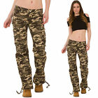 New Ladies Womens Wide Loose Green Camouflage Cargo Pants Jeans Combat Trousers