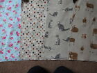 100% COTTON PVC COATED FABRIC WIPE CLEAN  OUTDOORS OR IN DOORS  CRAFTS ECT