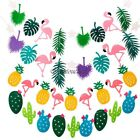 Flamingo Flag Garland Leaves Bunting Banner Summer Home Room Birthday Party Dec