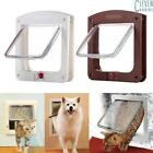 UK White Frame Four Way Locking Lockable Magnetic Pet Cat Small Dog Flap Door