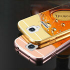 for Samsung S4mini Luxury Mirror Back Cover Metal Aluminum Frame Case