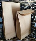 Flat Block Bottom Paper Brown Bag Party Cafe Kraft Loot Gift Lunch Vintage Bags