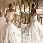 Sweetheart Wedding Dresses Lace Appliques Flowers Beads Vintage Bridal Gowns New