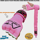 AUSTODEX LADIES WOMEN'S SUPPER INNER PADDED KNUCKLES GEL BOXING HAND WRAPS /GLOV