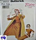 Butterick Sewing Pattern 6632 Ladies 6-10 Retro Sheath Dress Coat Belt
