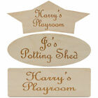 Personalised Door Signs - Etched Wood Signs for Bedroom Study Nursery Shed Den