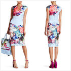 New Ted Baker Brynee Focus Bouquet Bodycon Dress Authentic