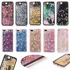 Bling Glitter Liquid Sparkle Soft bumper w/ Diamond Case Cover For iPhone 7 6S