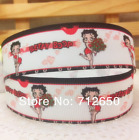 "1"" BETTY BOOP Vintage Beauty Black/White Grosgrain Ribbon By the Yard USA SELLER $0.99 USD"