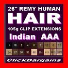 HAIR EXTENSIONS Genuine AAA REMY human hair 26 inches black brown blonde blends