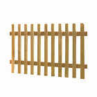 Wooden Picket Fence Panel Rounded Top