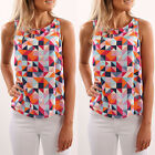 Women Ladies Floral Vest Top Blouse Sleeveless Shirt Casual Tank Tops T-Shirt