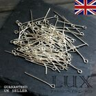 Silver Plated Eye Pin 20mm 30mm 40mm 50mm Jewellery Making Uk Seller