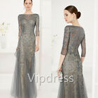 Sexy Mother Of The Bride Dresses Lace Applique Beading Formal Party Evening Gown