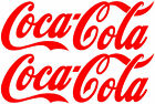 2x Large Coca Cola Stickers,Burger/Catering Trailer Stickers/Ice Cream Van Decal