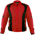 Xelement XS3062 Impulse Womens Black/Red Mesh Tri-Tex Armored Motorcycle Jacket