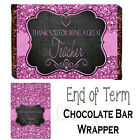 Thanks for being a Great Teacher Label Chocolate Bar Wrapper (6 designs)