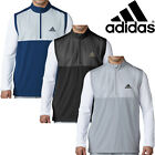 Adidas Golf Mens 1/4 Zip Competition Stretch Wind Vest Water Resistant