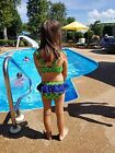 Dana Kids Seahorse Smocked Swimsuit Baby Toddler Girls Size 2T-6 NWT