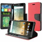 ZTE Maven 3 Overture 3 Prestige 2 PU Leather Wallet Flip Cover Case