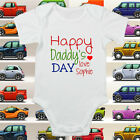 Happy Daddy's Fathers Day Baby Grow Body Suit Vest Keepsake ALL SIZES #78
