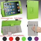 Smart Slim Fit Case Cover Stand w/ Hand Strap For Apple iPad MINI 3, 2, 1 Gen