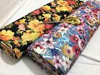 *NEW*Poly Viscose Patchwork Stretch Jersey Floral Dress/Craft/Cushion Fabric