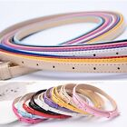 Women Lady Girl Colorful Thin Skinny Waist Belt Patent Leather Narrow Waistband