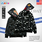 A Bathing Ape BAPE Camouflage Coat Shark Head Full Zip Jacket Hoodie Sweatshirt