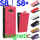 for Samsung Galaxy S8 Plus Leather VERTICAL Flip MAGNETIC Case Cover Card Holder