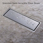 Invisible 304 Stainless Steel Bathroom Floor Drain Waste Grate Shower Drainer