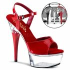 Sexy chaussures femmes sandales ROUGE hauts talons PLEASER CAPTIVA 609 15 chic