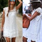 Summer Sexy Dress Womens Ladies Lace Tassel Sleeveless Cocktail Party Mini Dress