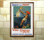 White Empress of the Pacific Sea Travel Poster [6 sizes, matte+glossy avail]