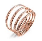 Rose Gold Engraved Message Bangle. Choice of  - Live, Love, Sing or Dance