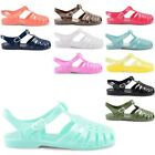 NEW LADIES CASUAL SUMMER BEACH RETRO JELLY BUCKLE SLINGBACK SANDALS UK SIZE 3-8
