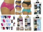 Ladies Womens 5 Pack Cotton Briefs High Leg Pants Underwear Knickers 12 14 16 18