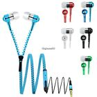 New Universal 3.5mm Jack In-Ear Earphone Zipper Closure Earbuds Headphone CaF807