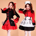 Hot kawaii Waiter Maid Dress Outfit Cosplay lolita Costume Chinese Wind Dancer