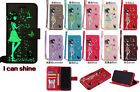 10pc/lot Luminous Cover Girl Cat Wallet PU Leather Case w Lanyard For Samsung