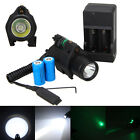 2 in 1 Combo Tactical Green Dot Laser Sight CREE LED Flashlight Rail Mount 16340