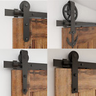 4-16FT Sliding Barn Door Hardware Track Kit American Style Single/Double/Bypass