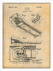 1925 Skee Ball Game Patent Print Art Drawing Poster 18X24