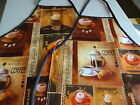 COFFEE LATTE ETC ADULT PVC WIPE CLEAN APRONS 2 SIZES OK TESTED