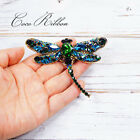 Dragonfly Brooch Vintage Style Crystal Bridal Brooches Designer Jewelry Pin G26