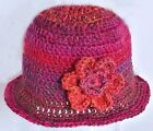 PREEMIE BABY GIRL CROCHETED HAT photoprop knit small early micro shower red 33