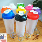 USA 600ml Cup BPAfree Shake Protein Blender Shaker Mixer Drink Whisk Ball Bottle