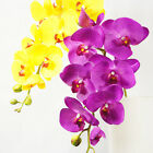 "WHOLESALE 105cm 41"" 8 HEADS REAL TOUCH ARTIFICIAL SILK PU COATING ORCHID FLOWER"