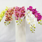"WHOLESALE 80cm 31.5"" 8 HEADS ARTIFICIAL REAL TOUCH PU COATING SILK ORCHID FLOWER"