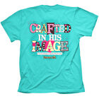 """NEW!!!! """"Crafted"""" Kerusso Cherished Girl Adult Short Sleeve Turquoise T-Shirt"""